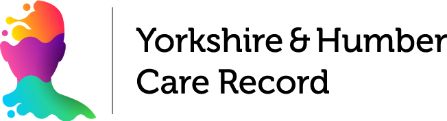 Black font logo of Yorkshire and Humber Care Record logo